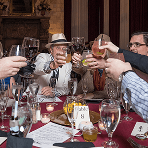 New York Murder Mystery guests raise glasses